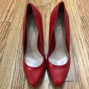 Red Aldo Pump Heels